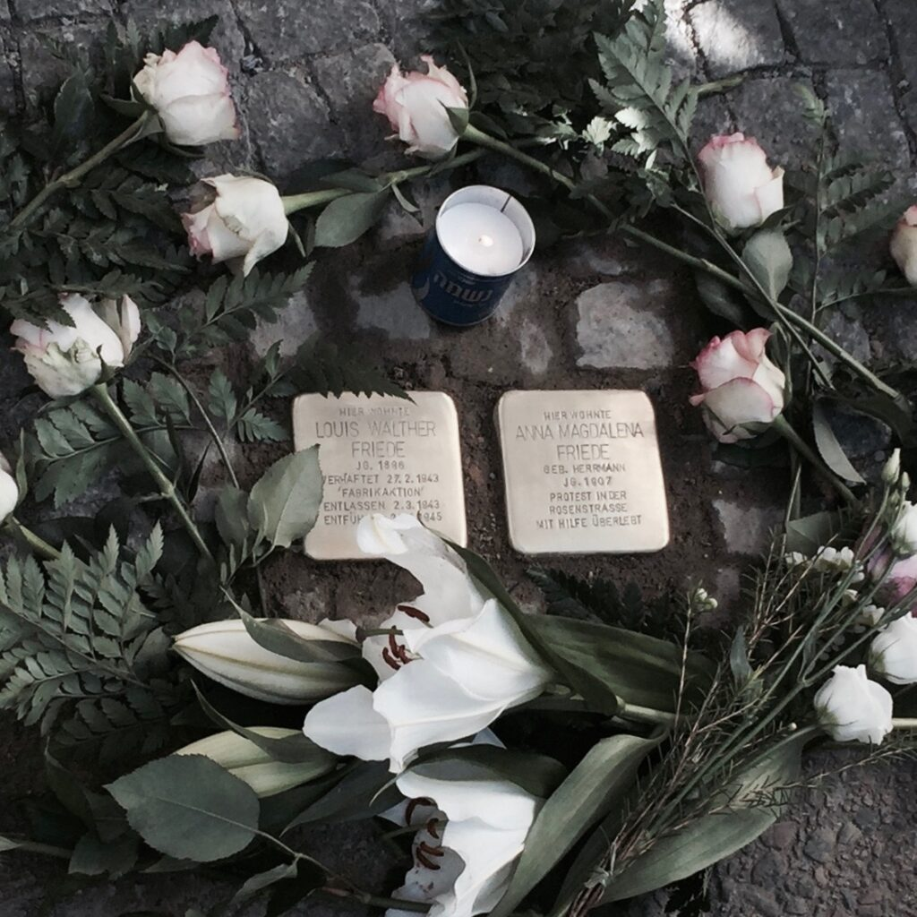 Ceremony for Stolpersteine in Berlin